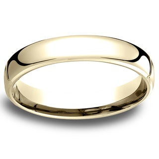 14k Yellow Gold Men's Low-dome 4.5mm Comfort-Fit Wedding Band