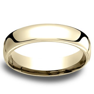 14k Yellow Gold Men's Low-dome 5.5mm Comfort-Fit Wedding Band