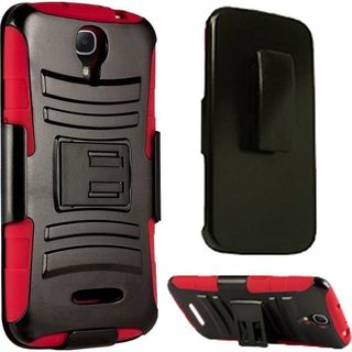 Insten Hard PC/ Soft Silicone Dual Layer Hybrid Phone Case Cover with Holster For Alcatel One Touch Pop Astro