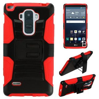 Insten Slim Hard PC/ Soft Silicone Dual Layer Hybrid Phone Case Cover with Holster For LG G Stylo