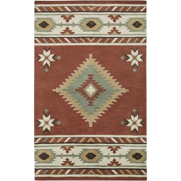 Rizzy Home Southwest Collection Hand Tufted Geometric Wool