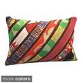 Handmade Vintage Stripe Lumbar Pillows (India)