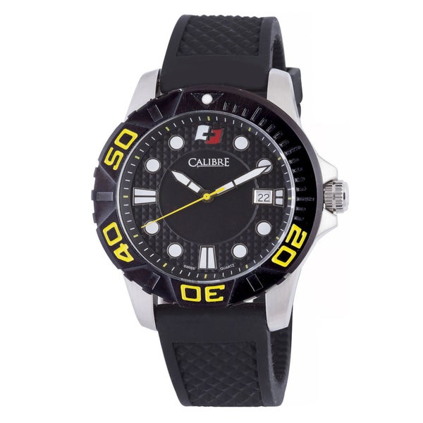 Calibre Akron Mens Black Dial Watch