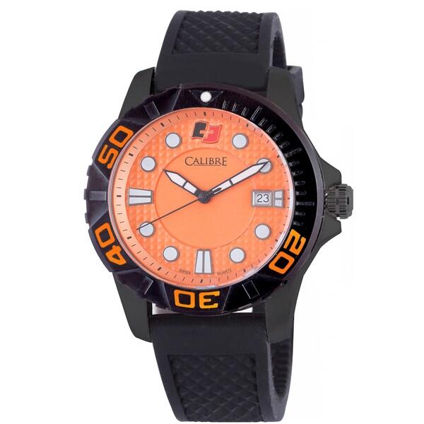 Calibre Akron Mens Orange Dial Watch