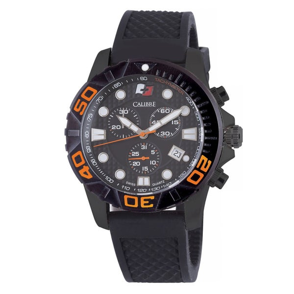 Calibre Akron Mens Black Dial Watch