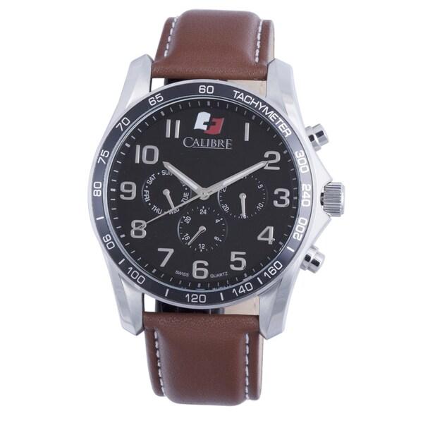 Calibre Buffalo Mens Black Dial Watch