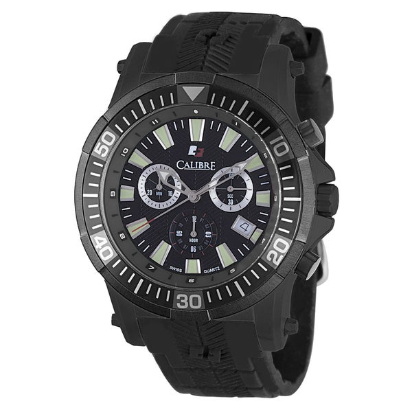 Calibre Hawk Chrono Mens Black Dial Watch