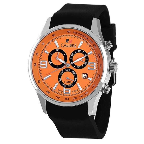 Calibre Mauler Mens Orange Dial Watch