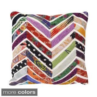 Vintage Chevron Square Accent Pillow (India)