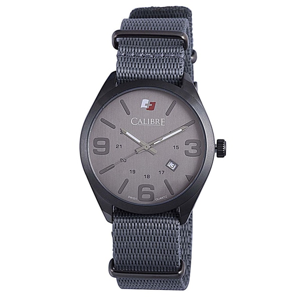 Calibre Trooper Mens Grey Dial Watch