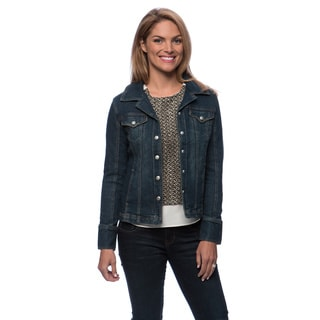 Live A Little Women's 3/4 Sleeve Denim Jean Jacket
