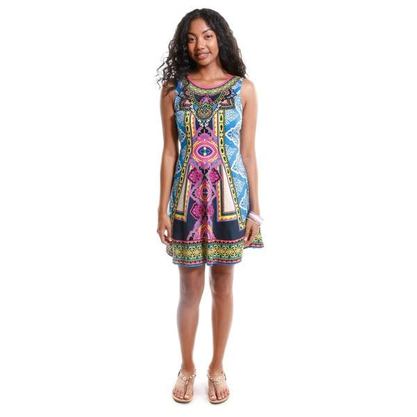 Hadari Women's Tribal Print Shift Dress