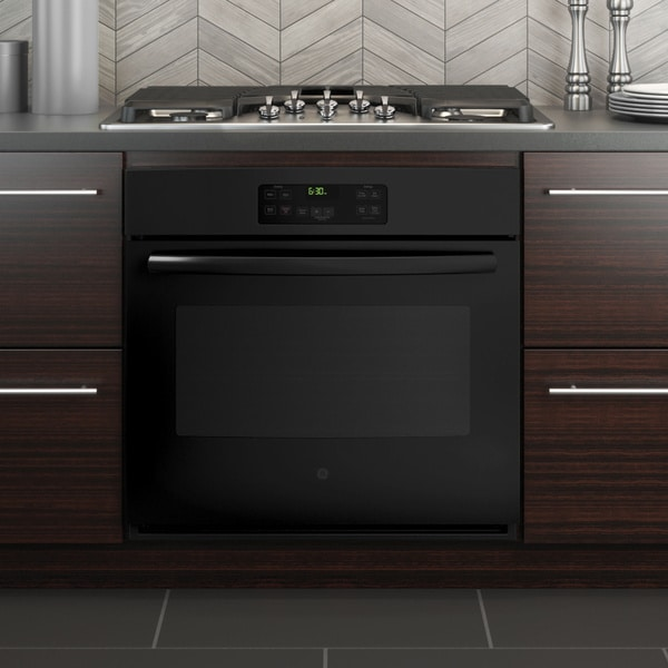 GE 30-inch Black Built-in Single Wall Oven