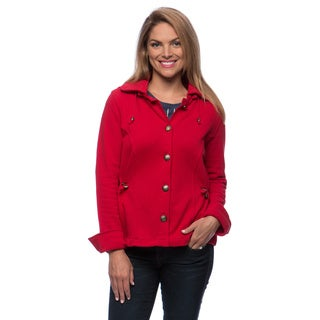 Live A Little Women's Hooded and Drawstring Waist Jacket