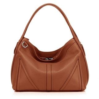 Ellese Leather Hobo Handbag - Torquoise