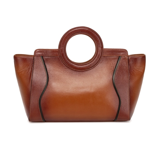 Annie Bella Leather Top Handle Handbag