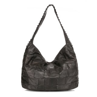 Swagger Studded Hobo Jeans Leather Handbag