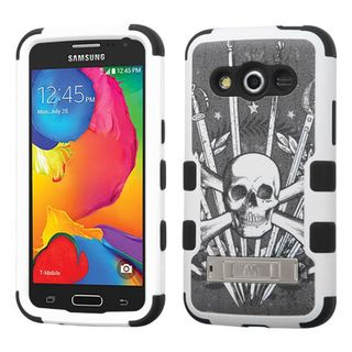 Insten Tuff Hard PC/ Soft Silicone Dual Layer Hybrid Phone Case Cover with Stand For Samsung Galaxy Avant