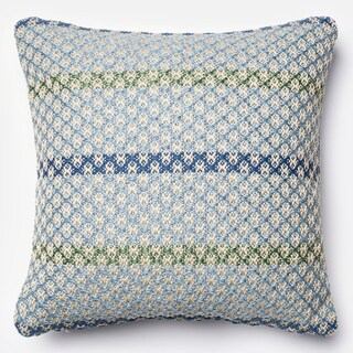 Indoor/ Outdoor Hudson Blue/ Multi Stripe Polyester Filled 18-inch Throw Pillow or Pillow Cover