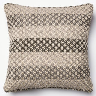 Indoor/ Outdoor Hudson Grey/ Multi Stripe Polyester Filled 18-inch Throw Pillow or Pillow Cover