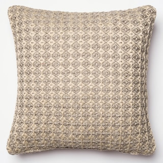 Indoor/ Outdoor Hudson Silver Grey/ Beige Polyester Filled 18-inch Throw Pillow or Pillow Cover