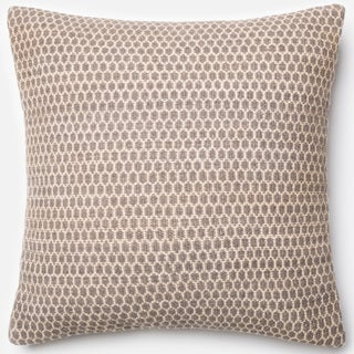 Poplin Natural Smoke Woven Wool Down Feather or Polyester Filled 22-inch Throw Pillow or Pillow Cover