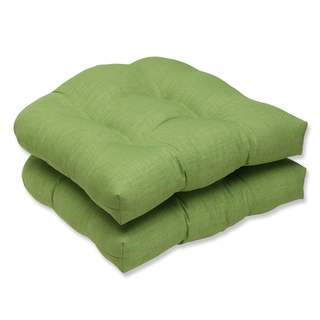 Pillow Perfect Outdoor/ Indoor Rave Lawn Wicker Seat Cushion (Set of 2)