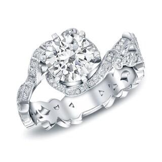 Auriya 14k White Gold 1 1/2ct Round Diamond Engagement (H-I, SI1-SI2)