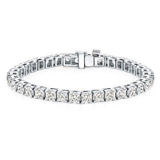 Auriya 14k Gold 15ct TDW Clarity-Enhanced Diamond Tennis Bracelet (H-I, I2-I3)