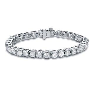 Auriya 14k White Gold 15ct TDW Diamond Bracelet (H-I, I1-I2)