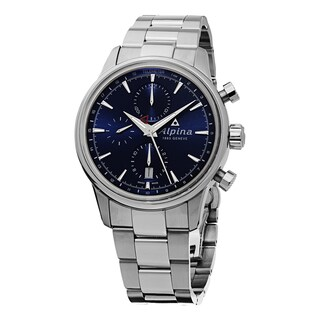 Alpina Men's AL-750N4E6B 'Alpiner' Blue Dial Stainless Steel Chronograph Swiss Automatic Watch