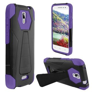 Insten Hard PC/ Soft Silicone Dual Layer Hybrid Phone Case Cover with Stand For Alcatel One Touch Pop Astro