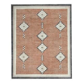 Herat Oriental Afghan Hand-knotted Tribal Vegetable Dye Gabbeh Brown/ Ivory Wool Rug (8'3 x 9'11)