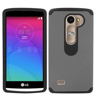 Insten Hard PC/ Soft Silicone Dual Layer Hybrid Rubberized Matte Phone Case Cover For LG Destiny/ Leon/ Power
