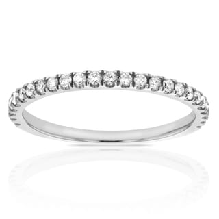 Annello 14k White Gold 1/5ct TDW Diamond Wedding Ring (G-H, I1-I2)