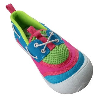 Girls' Aqua / Lime/ Pink Sider Water Shoes