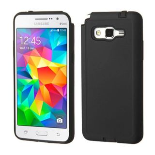 Insten Hard PC/ Soft Silicone Dual Layer Hybrid Rubberized Matte Phone Case Cover For Samsung Galaxy Grand Prime