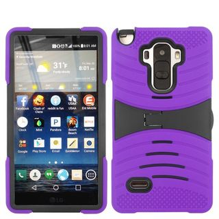 Insten Wave Symbiosis Soft Soft Silicone/ PC Dual Layer Hybrid Rubber Phone Case Cover with Stand For LG G Stylo