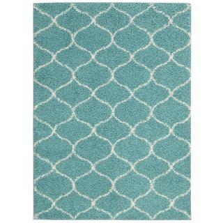 Nourison Windsor Teal Shag Area Rug (5' x 7')