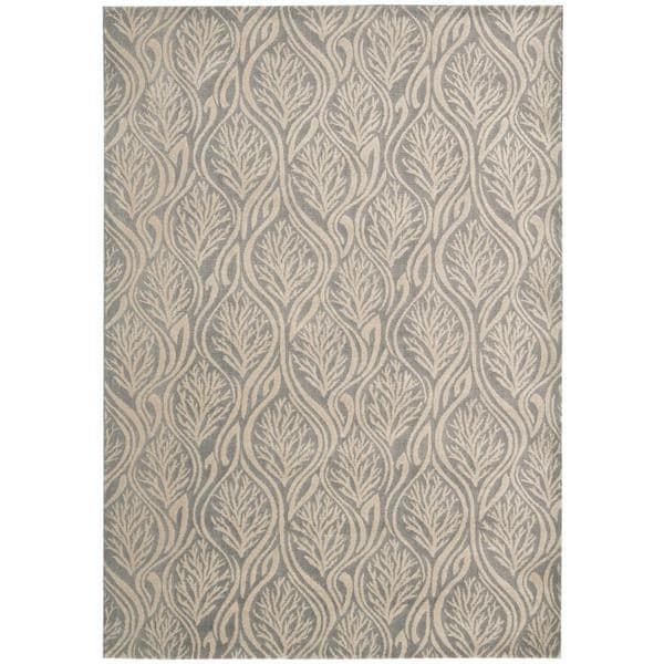 Kathy Ireland by Nourison Hollywood Shimmer Light Grey Rug (5'3 x 7'5)