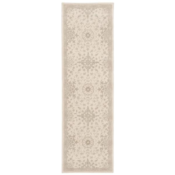 kathy ireland Royal Serenity St. James Bone Area Rug by Nourison (2'3 x 8') 15844290