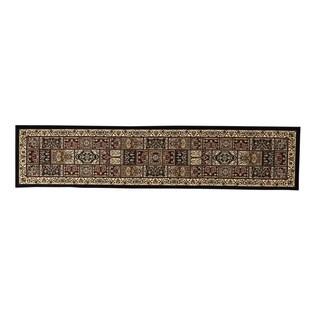 Oh! Home Persian Treasures Bakhtiari Oriental Polypropylene Stair Runner Rug (2'3-inch x 16')