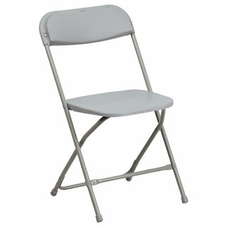 Berko Gray Folding Chairs with Draining Holes