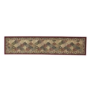 Oh! Home Persian Treasures Kerman Multicolor Oriental Polypropylene Stair Runner Rug (2'3-inch x 16')