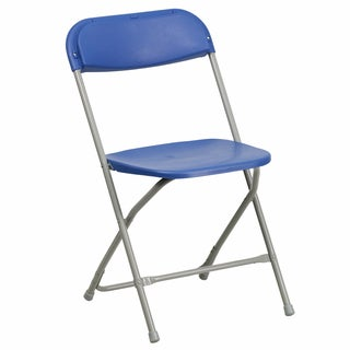 Berko Blue Folding Chairs with Draining Holes