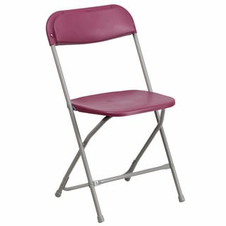 Berko Burgundy Folding Chairs with Draining Holes