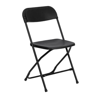 Wisteria Black Folding Chairs with Draining Holes