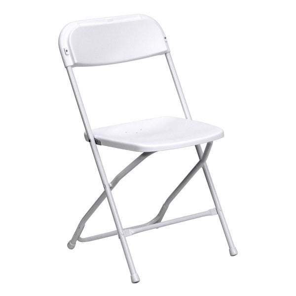 Wisteria White Folding Chairs with Draining Holes