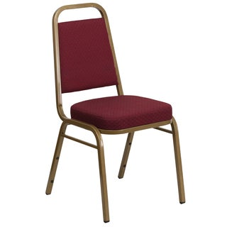 Daffo Burgundy Upholstered Stack Dining Chairs