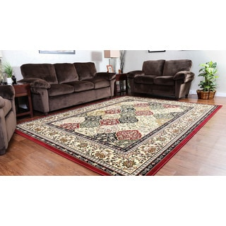 Oh! Home Persian Treasures Kerman Multicolor Oriental Polypropylene Rectangular Area Rug (8' x 10')